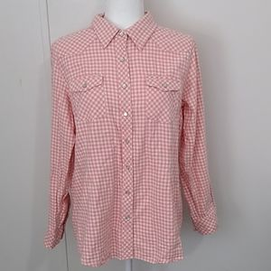 Bit & Bridle Western Pearl Snap Too Pink XL